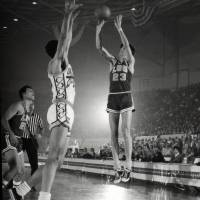 """Pete Maravich jump shot"" by Retro Images Archive"