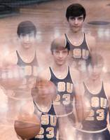 Pete Maravich kaleidoscope color