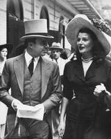 Rita Hayworth walking down the street