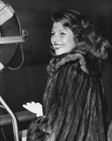 Rita Hayworth in fur coat