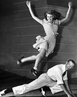 Rita Hayworth jumping