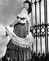 Rita Hayworth traditional dress