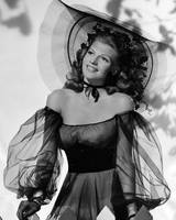 Rita Hayworth in balck dress