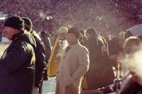 Vince Lombardi Coaching from Sidelines