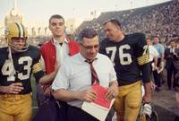 Vince Lombardi Heads Off Field