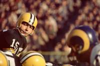Bart Starr looks to the sideline