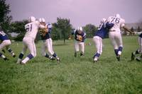 Johnny Unitas running up the middle