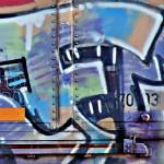 """Framingham Train Grafitti"" by bavosiphotoart"