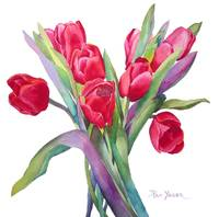 Red Tulips Painting, JPEG'd, RB, White Bkgrd, sign