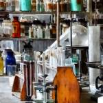 """""""Chem Lab With Test Tubes and Retort"""" by susansartgallery"""