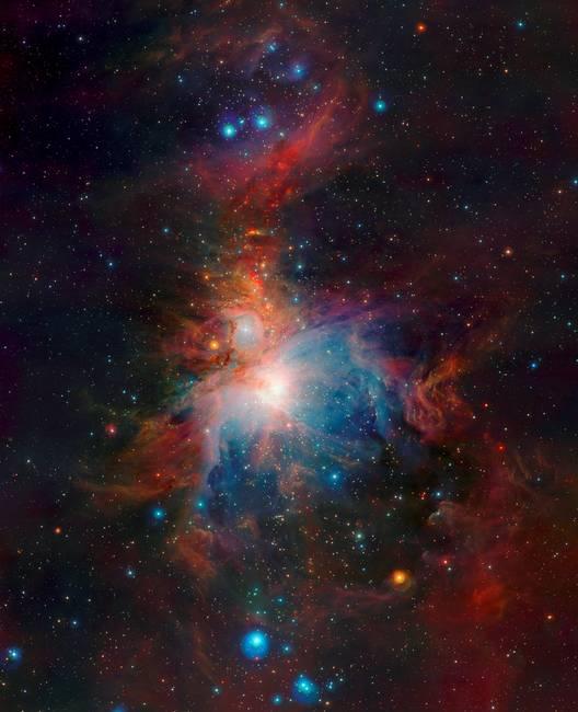 Orion nebula telescope view