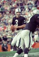 Daryle Lamonica drops back to throw