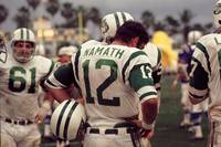 Joe Namath waiting on the sideline