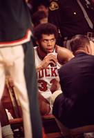 Kareem Abdul Jabbar awaits instruction