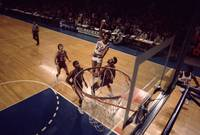 Kareem Abdul Jabbar hook shot in the paint