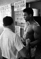 Muhammad Ali coming out of dressing room