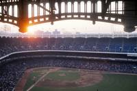 Sunset over Yankee Stadium