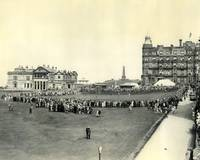 1927 British Open St. Andrews 18th hole watchers