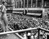 1950 Aqua Queen Aquatennial looks over crowd