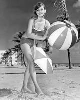 Vintage bathing suit beauty frolics in the sun