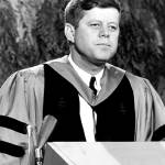 """John F. Kennedy speaks to graduates"" by RetroImagesArchive"
