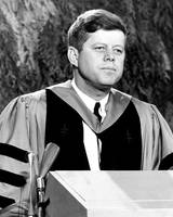 John F. Kennedy speaks to graduates