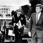 """John F. Kennedy exits limo in front of White House"" by RetroImagesArchive"