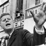 """John F. Kennedy illustrates passionate speech"" by RetroImagesArchive"