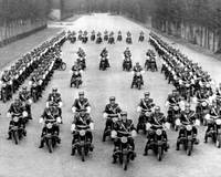 Paris Motorcycle Police Formation