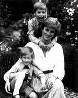 Princess Diana with her sons