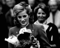 Princess Diana with flowers