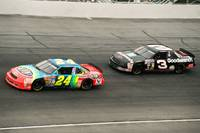 Dale Earnhardt and Jeff Gordon