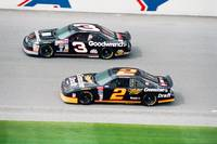 Dale Earnhardt and Rusty Wallace