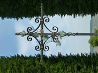 Iron Verdegris Cross with Grape Vine