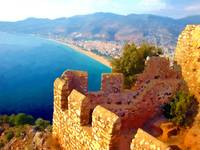 View of Alanya Turkey