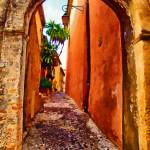 """Back street in Eze village France"" by who"