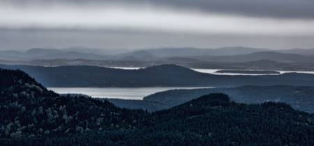 Dusk over the San Juan Islands