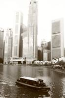 City Singapore in monochrome