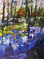 Wetland Reflections Modern Impressionist Oil Paint