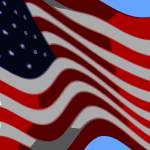 """50 Star American Flag Closeup Abstract 6"" by TheNorthernTerritory"