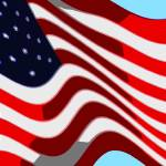 """50 Star American Flag Closeup Abstract 7"" by TheNorthernTerritory"