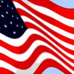 """50 Star American Flag Closeup Abstract 8"" by TheNorthernTerritory"
