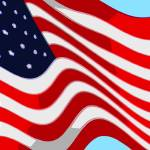 """50 Star American Flag Closeup Abstract 9"" by TheNorthernTerritory"
