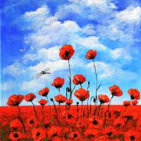 Poppies  Larry Kip Hayes Art Prints & Posters by Larry
