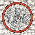 """POMPEII MOSAICS / OCEAN SEA LIFE / OCTOPUS"" by Masterpieces-of-Art"
