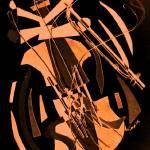 """dancing-violin_artsepia"" by alansmithart"
