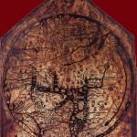 """Hereford Mappa Mundi 1300 Dark Red Corners"" by TheNorthernTerritory"