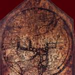 """Hereford Mappa Mundi 1300 Darker Red Corners"" by TheNorthernTerritory"