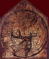 Hereford Mappa Mundi 1300 Daker Red Corners Large