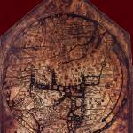 """Hereford Mappa Mundi Dark Red Corners Large"" by TheNorthernTerritory"